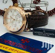 Vacheron Cheron Constantin Chronograph Rose Gold Leather Strap Watch   Watches for sale in Lagos State, Lagos Island