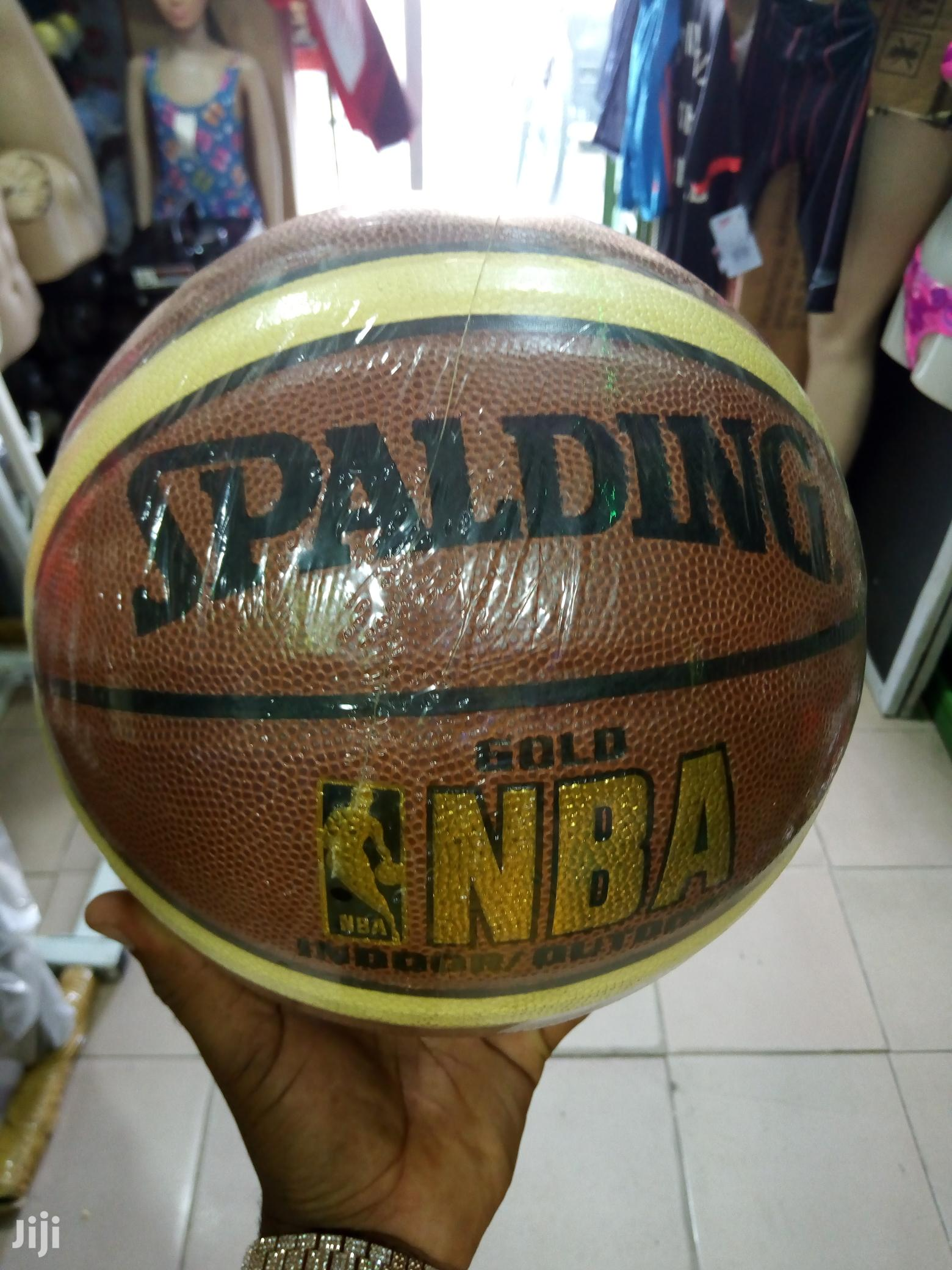 High Quality Leather Spalding Basketball