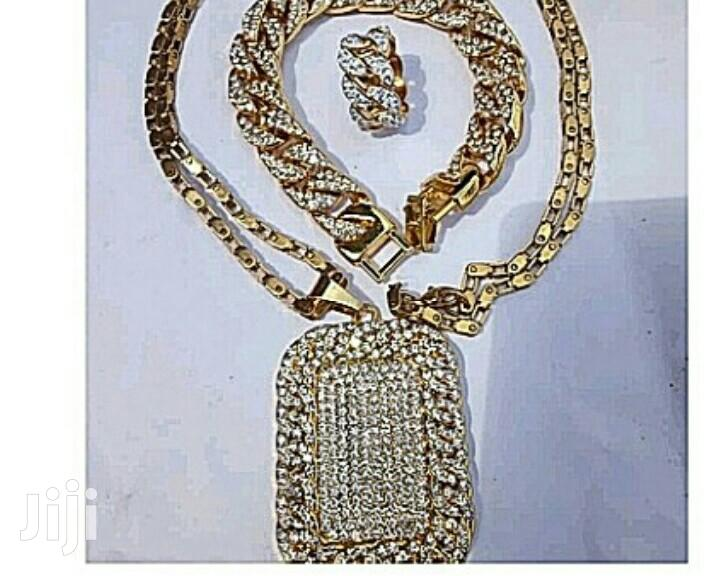 Cuban Chain Necklace With Hand Chain And Ring