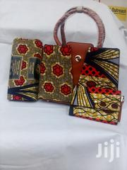 Exclusive Ankara Handbag And Wax Hollandaise Wih Clutch Purse | Bags for sale in Lagos State, Ikeja