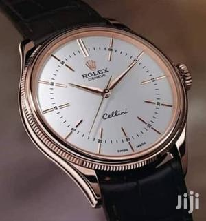 Rolex Rose Gold Leather Strap Watch for Unisex   Watches for sale in Lagos State, Lagos Island (Eko)