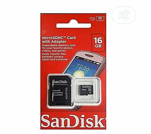 Sandisk 16GB Memory Card + Adapter 100% Durability | Accessories for Mobile Phones & Tablets for sale in Lagos State, Ikeja