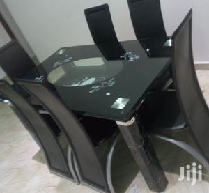Quality Strong Six Seater Tinted Glass Dining Table | Furniture for sale in Lagos State, Yaba