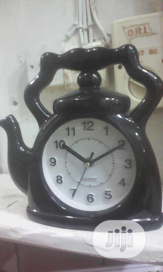 Kitchen Clock With Kettle Design