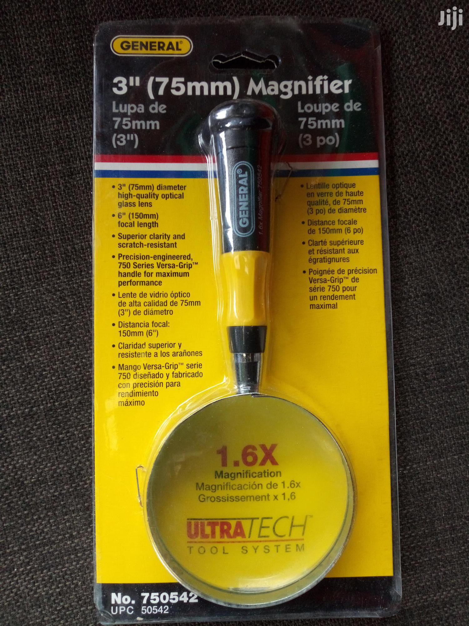 General Tools 750542 Glass Magnifier, 3-inch
