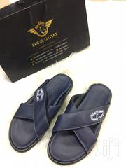 Giovanni Conti Italian Leather Sandal Slippers 'Blue' | Shoes for sale in Abuja (FCT) State, Gwarinpa