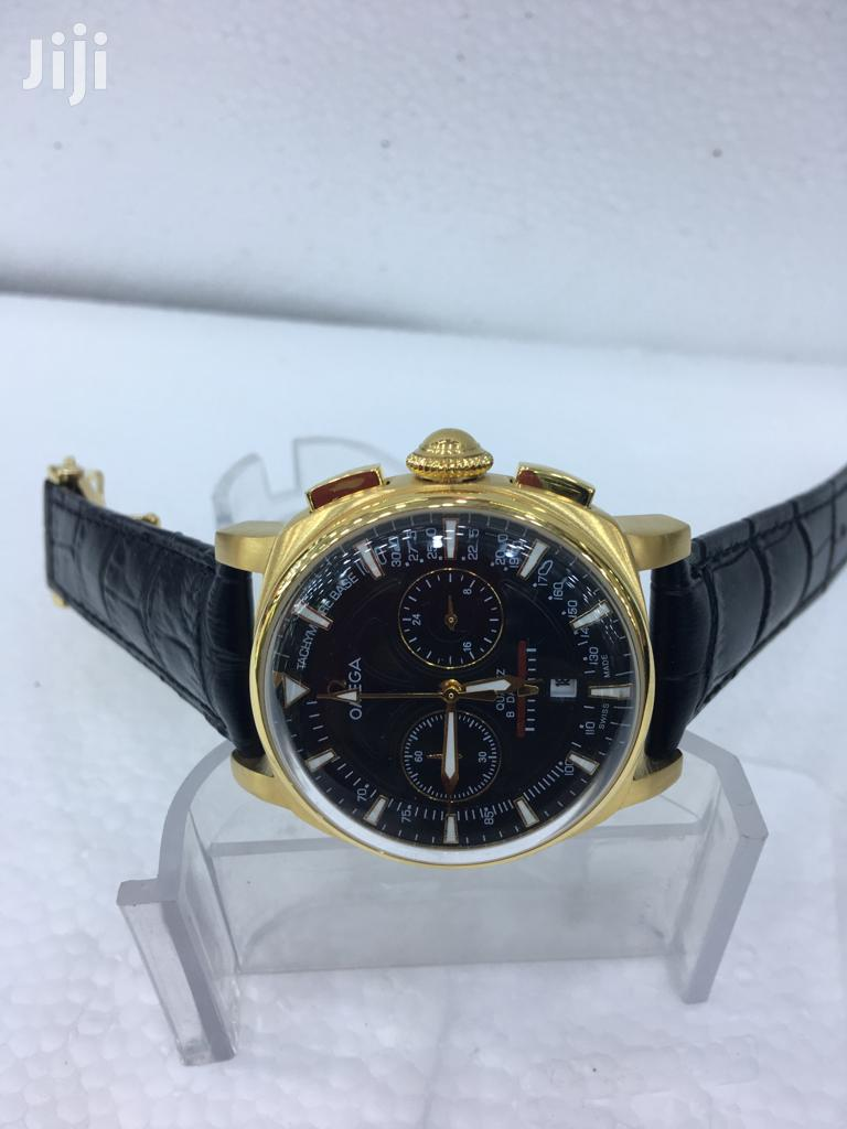 Omega Leather Wrist Watch | Watches for sale in Yaba, Lagos State, Nigeria