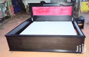 King's Size Bedframes and Bedside Drawer. 6by6 Feet Leather Padded Bed   Furniture for sale in Lagos State, Ajah