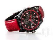 Festina Chronograph Black/Red Leather Strap Watch | Watches for sale in Lagos State, Lagos Island