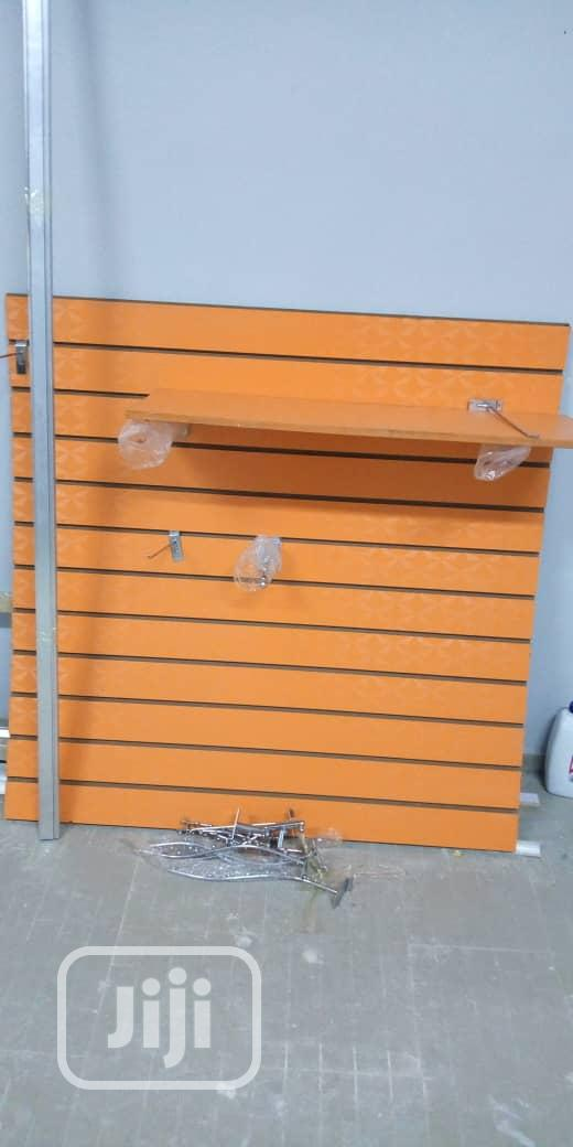 MDF Slat Wall Display Pannel/ Slotted Panel | Store Equipment for sale in Lagos Island (Eko), Lagos State, Nigeria