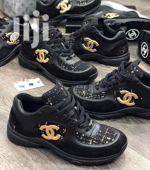 Chanel CC Logo Suede Tweed Black Gold