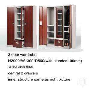 High Quality Metal Wardrobe With Mirror and Drawers   Furniture for sale in Lagos State, Lagos Island (Eko)