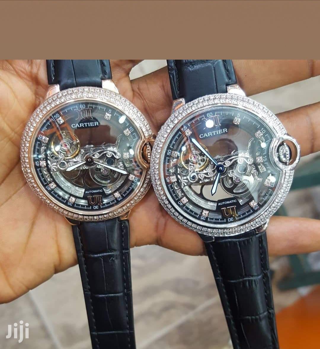 Cartier Leather Wrist Watch