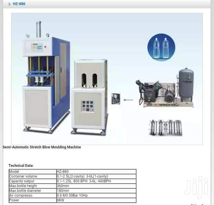 Pet Blowing Machine, Compressor And Mould