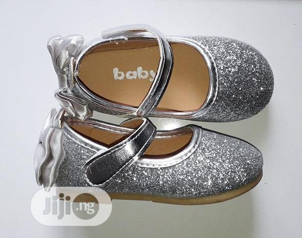 Silver Glittery Ballet Flat | Children's Shoes for sale in Surulere, Lagos State, Nigeria