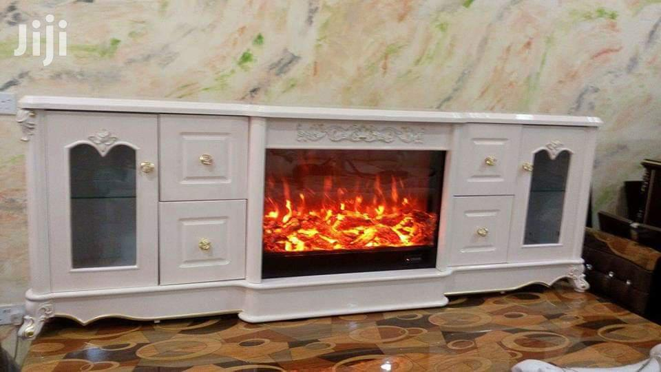 Fire Flame Tv Stand With Remote Control