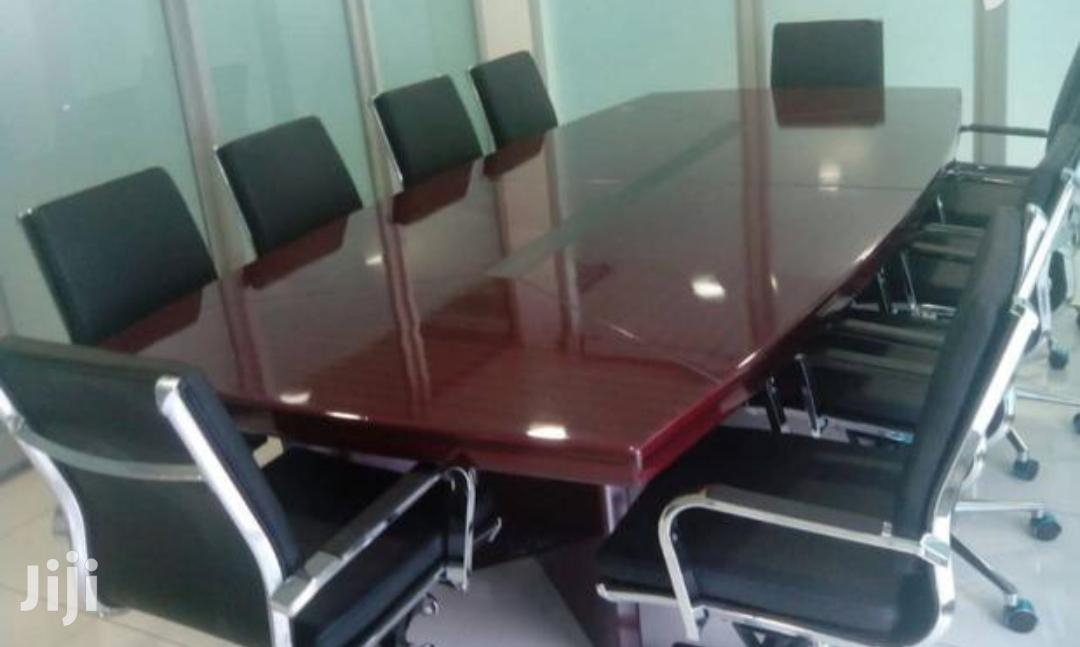 Quality Conference Table With 10 Chairs