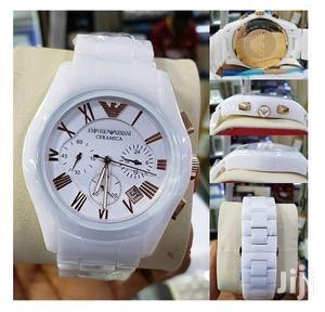 Emporio Armani Ceramic Wrist Watch - White   Watches for sale in Lagos State, Ikeja