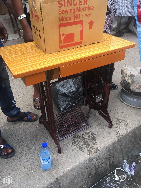 Singer Domestic Sewing Machine Flat Table (Electric Motor) | Manufacturing Equipment for sale in Lagos Island (Eko), Lagos State, Nigeria