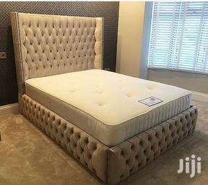 Upholstery Sofas Frabic Bed Frame 6by6 It Have 2bedside Drawer | Furniture for sale in Lagos State, Ikoyi