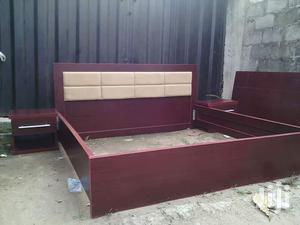 Available Quality Bed Frame 6x6 With 2bedside Drawer | Furniture for sale in Lagos State, Ikeja