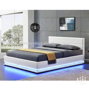 Aliba Upholstery Sofas, Leather Bed Frame6 By 6,It Have LED Lights | Furniture for sale in Lagos State, Lekki