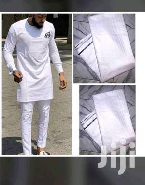 Men's Senator Fabrics- White   Clothing for sale in Delta State, Warri
