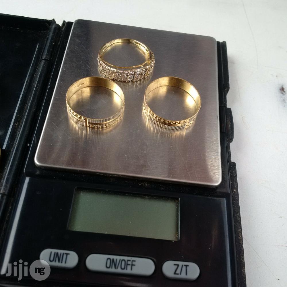 Solid 18karat Gold Wedding Ring Set