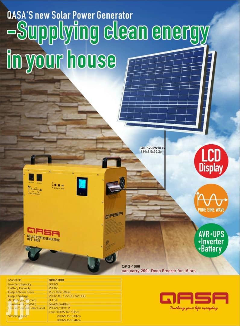 Qasa 1kva Solar Panel Generator