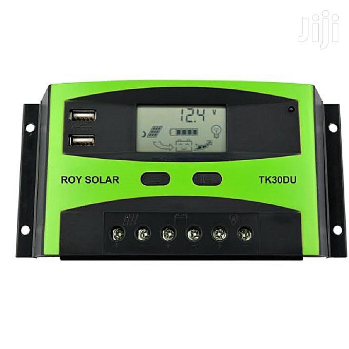 Roy Solar 12V/24V 30A PWM Solar Charge Controller