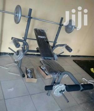 Weight Lifting Bench With 50kg Weight   Sports Equipment for sale in Abuja (FCT) State, Nyanya