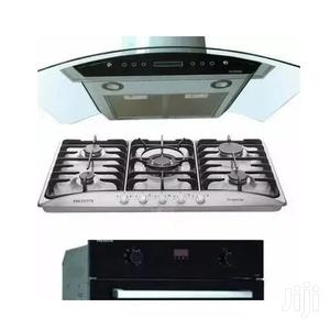 Polystar Electric Oven 5 Gas Burner 90cm Hood Extractor   Kitchen Appliances for sale in Lagos State, Ojo