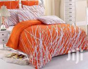 6 By 6 Orange Bedsheets With Duvet | Home Accessories for sale in Lagos State, Amuwo-Odofin