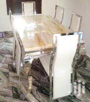 Quality Strong Six Seater Marble Dining Table | Furniture for sale in Abia State, Umuahia