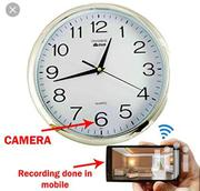 Wall Clock Hidden Camera WIFI Spy Camera HD Wall Clock With Camera   Security & Surveillance for sale in Lagos State, Ikeja