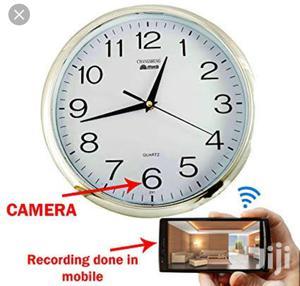 Wall Clock Hidden Camera WIFI Spy Camera HD Wall Clock | Security & Surveillance for sale in Lagos State, Ikeja