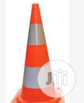 """28"""" Orange PVC Traffic Safety Cone With Red Base BY HIPHEN SOLUTIONS 