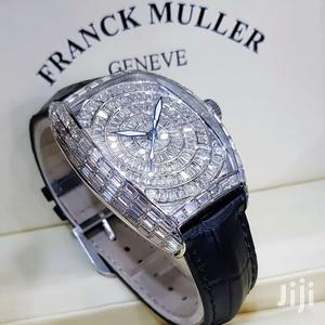 Franck Muller Silver Full Ice Leather Strap Watch   Watches for sale in Lagos State, Lagos Island (Eko)
