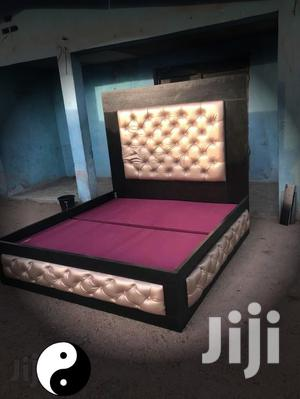 Upholstery Sofas Bed Frame 6by 6 With 2bedside Drawer | Furniture for sale in Lagos State, Lekki