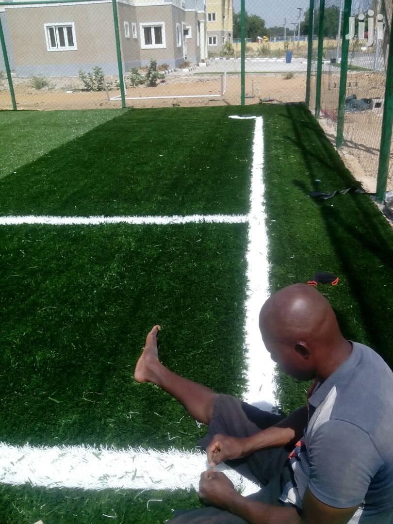 Artificial Grass Football Pitch Construction Ongoing