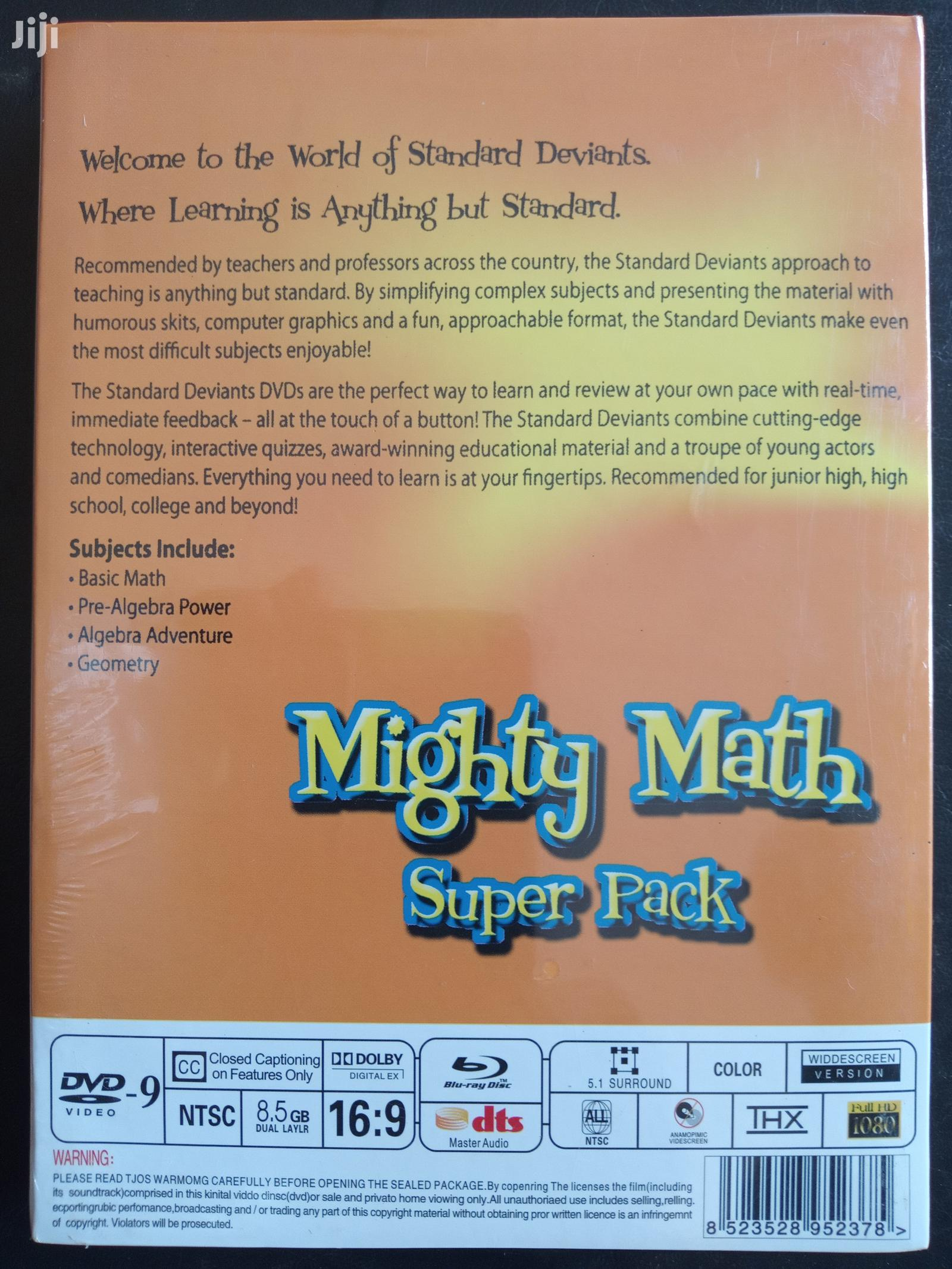 The Standard Deviants - Dvd Mighty Math Pack (FREE SHIPPING) | CDs & DVDs for sale in Akinyele, Oyo State, Nigeria