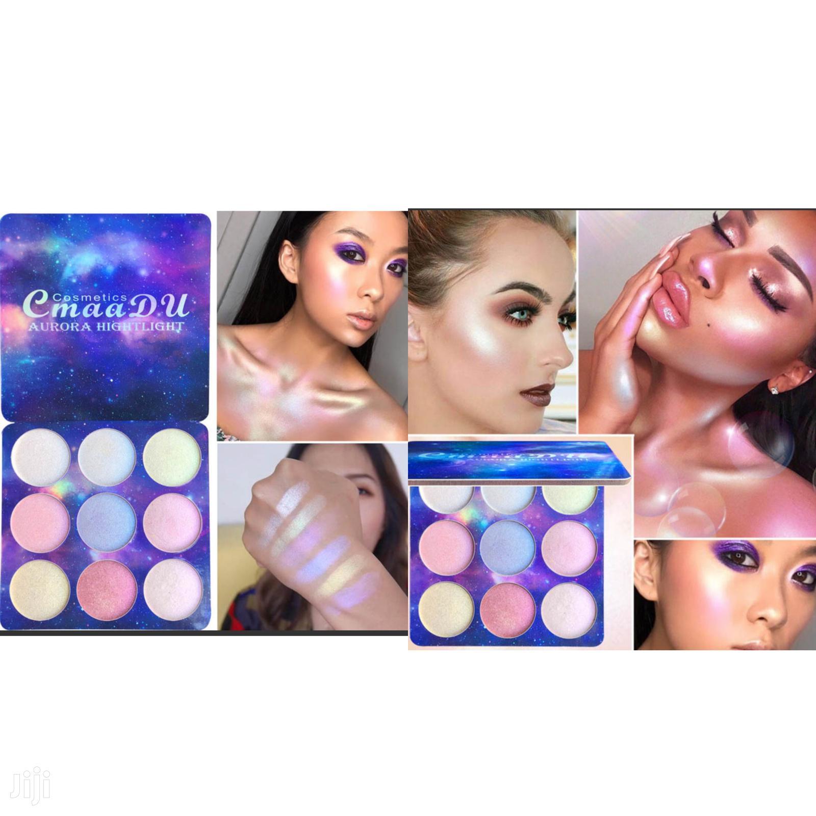 9 Color Shimmer Eye Shadow/Highlight Long Lasting Palette