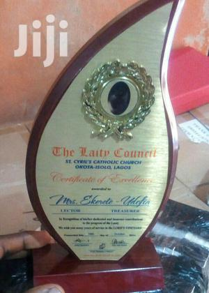 Wooden Plaque Award With Printing   Arts & Crafts for sale in Abuja (FCT) State, Utako