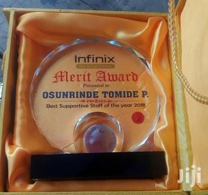 Presentable Award Crystal With Printing | Arts & Crafts for sale in Abuja (FCT) State, Maitama