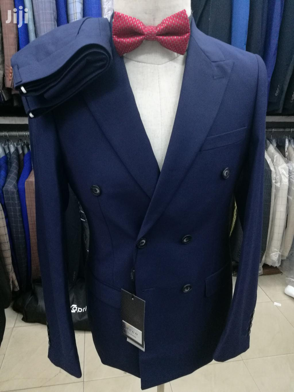 Archive: Navy Blue Hugo Classic Double Breasted Suits