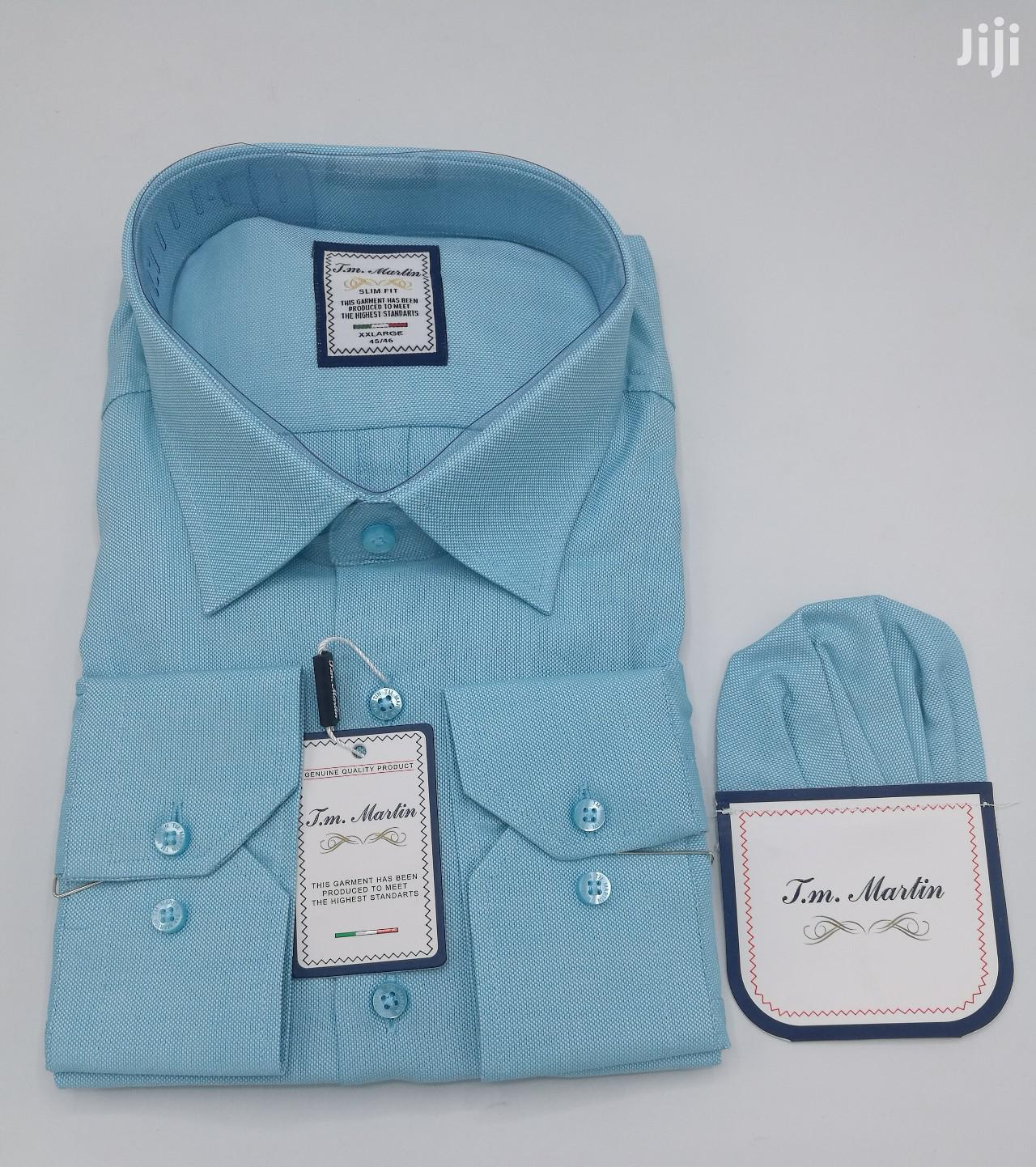 Plain Turquoise Blue Turkey Shirts by TM Martin