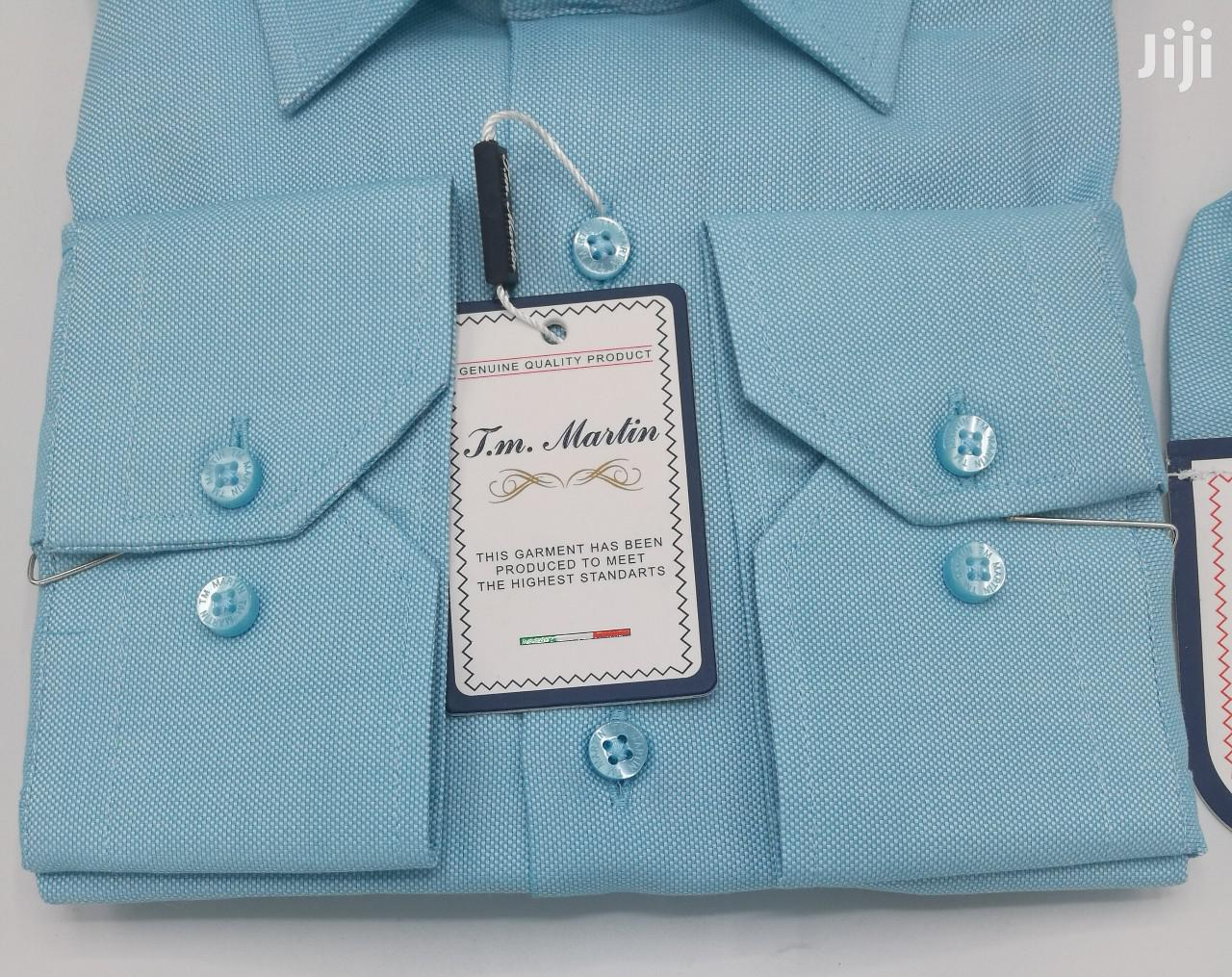 Plain Turquoise Blue Turkey Shirts by TM Martin | Clothing for sale in Lagos Island, Lagos State, Nigeria