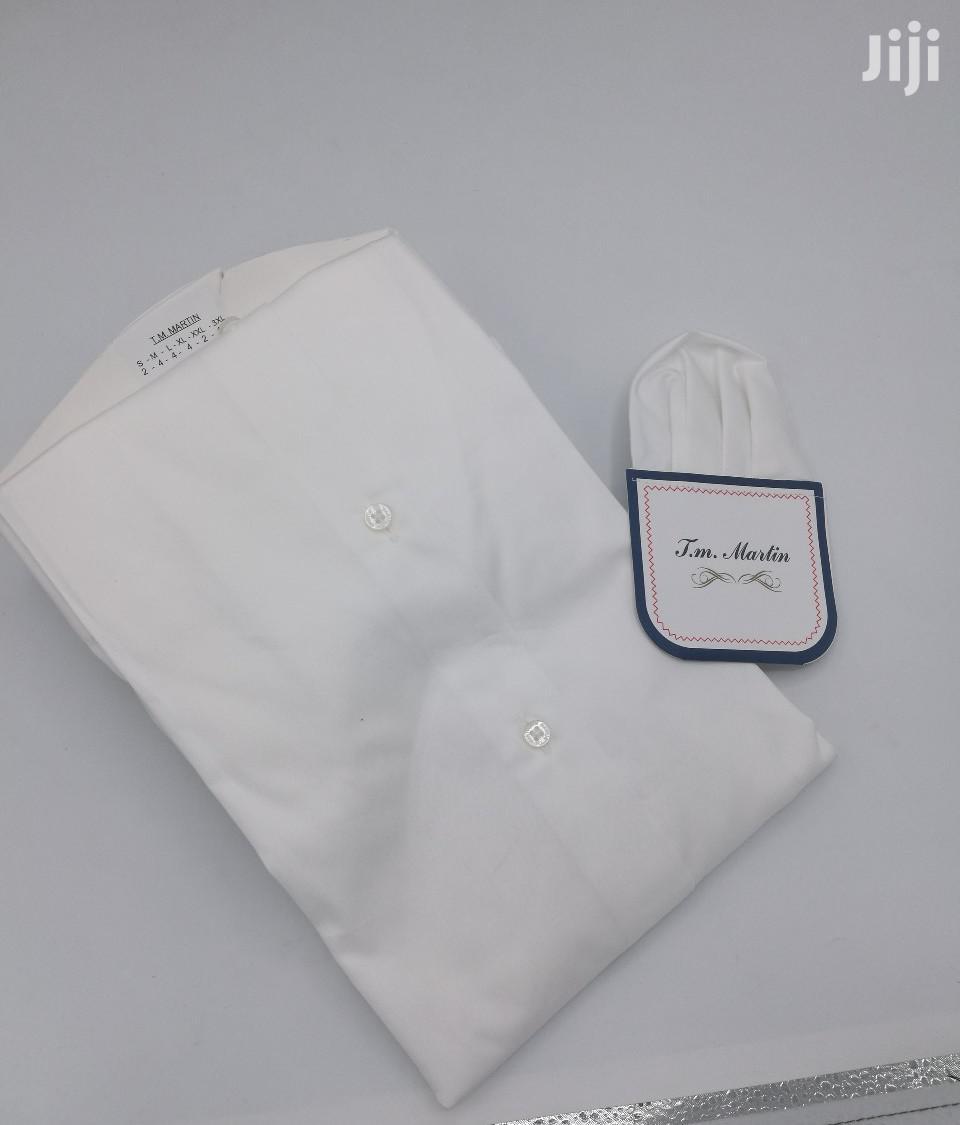Plain White 100% Cotton Turkey Shirts By TM Martin | Clothing for sale in Lagos Island, Lagos State, Nigeria