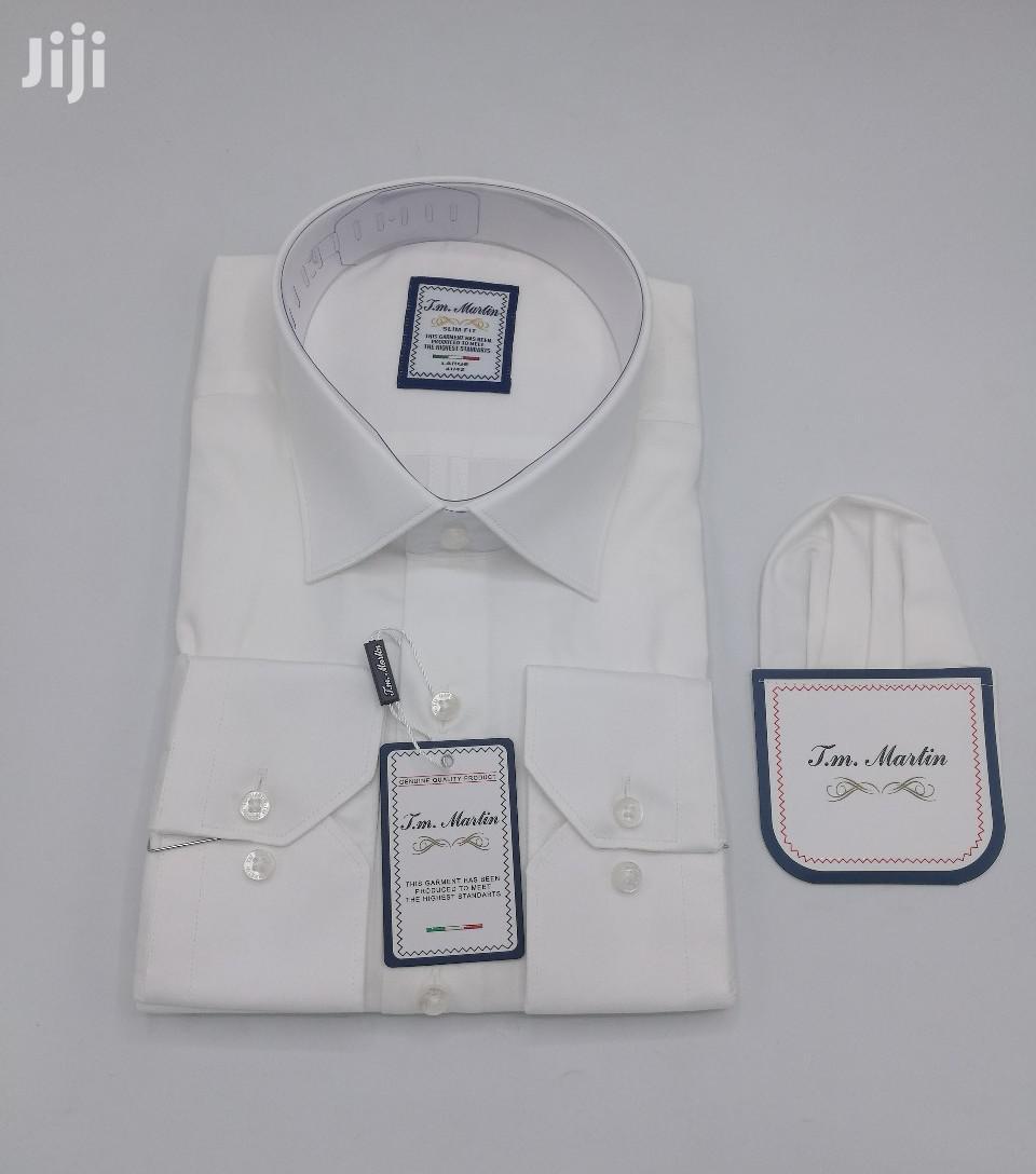 Plain White 100% Cotton Turkey Shirts By TM Martin