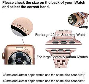 Coteetd Stainless Steel Watch Band Iwatch Series 4 44mm & 40mm | Smart Watches & Trackers for sale in Lagos State, Ikeja